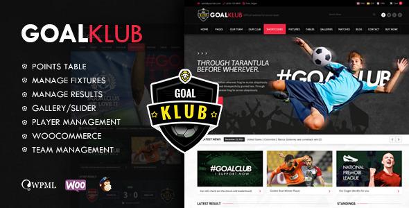 Download Goal Club   Sports & Events WordPress Theme Event WordPress Themes