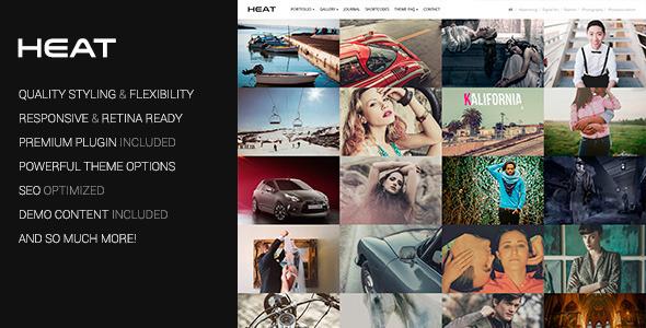 Download Heat - Portfolio WordPress Theme Amp Blogger Templates