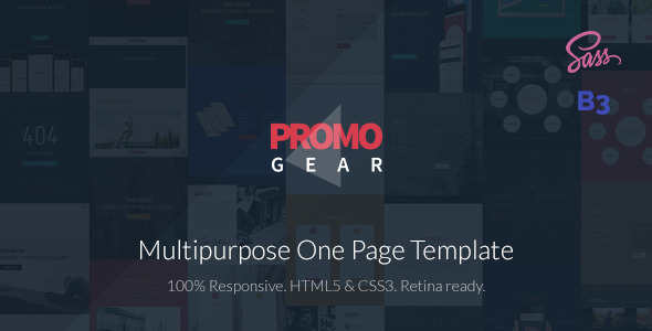 Download PromoGear — Multipurpose OnePage Template Onepage Blogger Templates