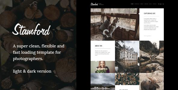 Download Stamford – HTML5 Photography Portfolio & Blog Black Joomla Templates