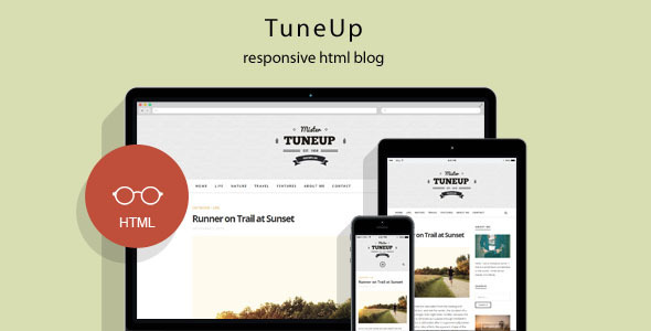 Download TuneUp - Responsive HTML5 Blog Template Youtube Blogger Templates
