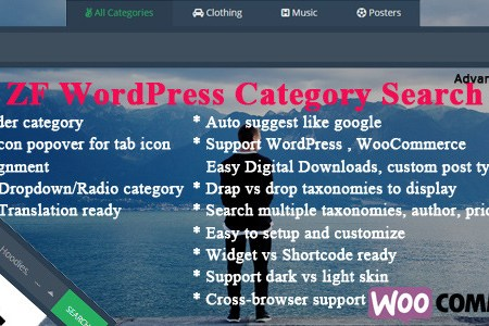 zf wordpres category search product