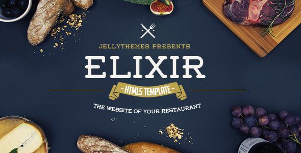 Download Elixir - Restaurant HTML Responsive Template Restaurant Html Templates