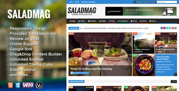 Download SaladMag - Responsive WordPress Magazine Theme 2 Column WordPress Themes