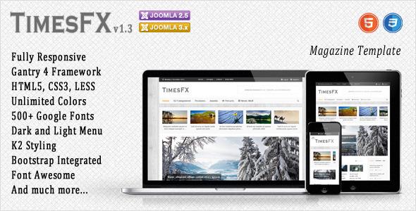 Download TimesFX - Responsive Joomla Template Portal Joomla Templates