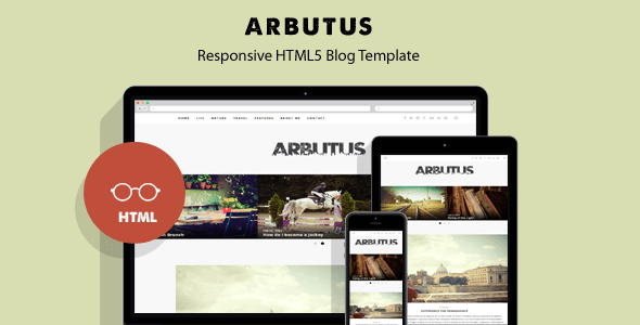 Download Arbutus - Responsive HTML5 Blog Template Youtube Blogger Templates