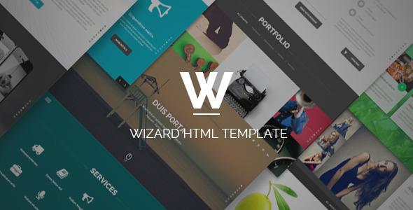 Download Wizard - Fullpage Portfolio HTML Template Portfolio Html Templates