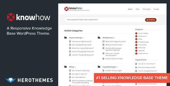 Download KnowHow - A Knowledge Base WordPress Theme 2 Column WordPress Themes