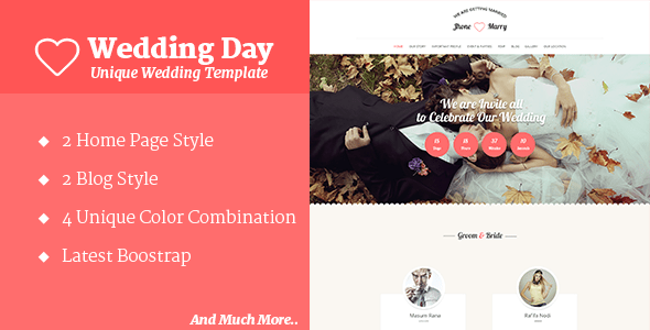 Download Wedding Day - Wedding HTML Template Wedding Html Templates