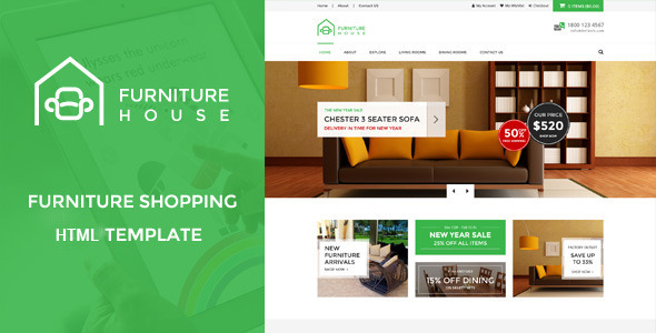 Download Furniture House - eCommerce Shop HTML Template Furniture Html Templates