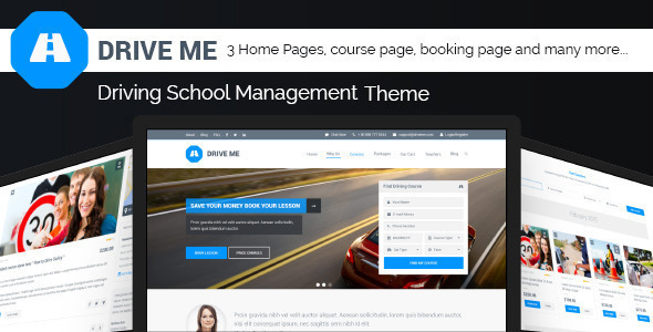 Download Driveme - Driving School WordPress Theme School WordPress Themes