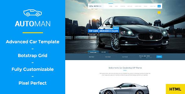 Download Automan - Advanced Car Dealer HTML Template Car Html Templates