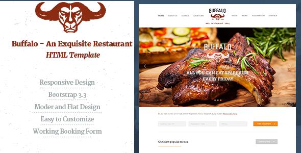 Download Buffalo - An Exquisite Restaurant HTML Template Restaurant Html Templates