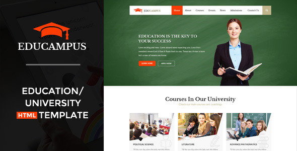 Download Educampus - Education & University HTML Template University Html Templates