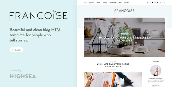 Download Francoise - Blog HTML Template Blog Html Templates