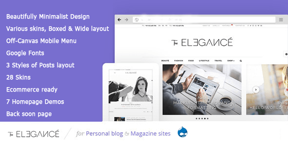 Download Elegance - A Flawlessly Minimalist Blogging theme Youtube Blogger Templates