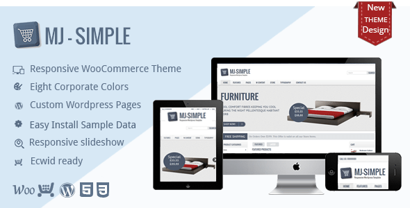 Download MJ Simple - Responsive WooCommerce theme Joomla WordPress Themes