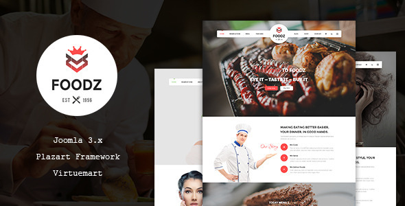 Download Foodz - Restaurant, Spa & Salon Joomla Template Restaurant Joomla Templates