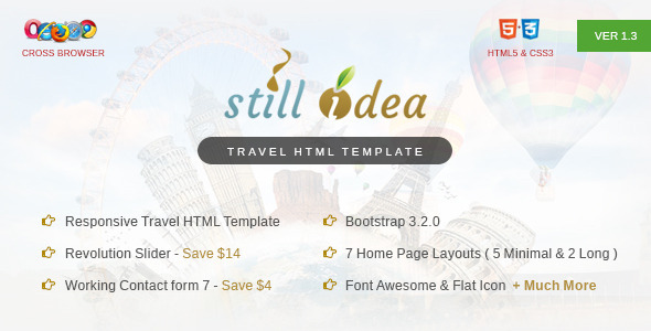 Download Stillidea - Travel, Clean HTML Template Travel Html Templates