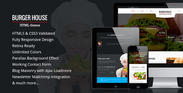 Download Burger House — Restaurant HTML Template Restaurant Html Templates