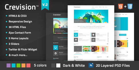 Download Crevision - Responsive HTML Template Responsive Html Templates