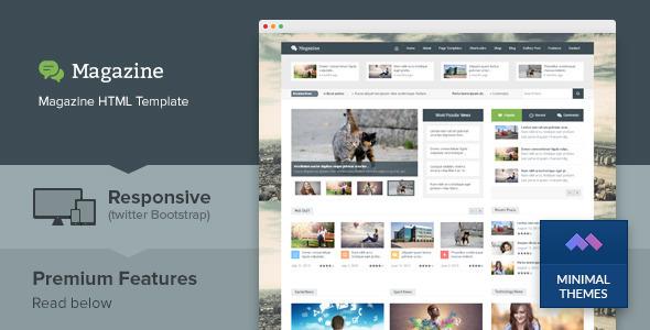 Download Magazine - Responsive Multipurpose HTML Template Newspaper Html Templates
