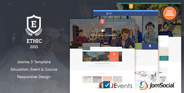 Download Education, Event and Course - ETHIC Template Event Joomla Templates