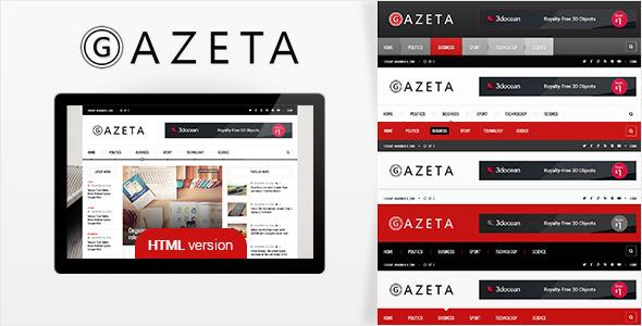 Download Gazeta 2 - Responsive News HTML Template News Html Templates