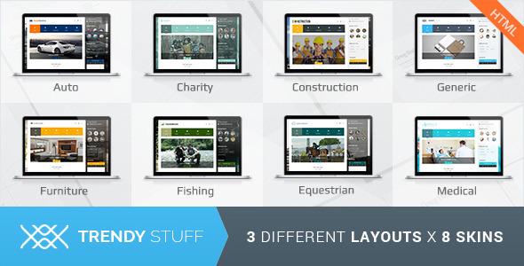 Download Trendy Stuff - Responsive Business HTML5 Template Amp WordPress Themes