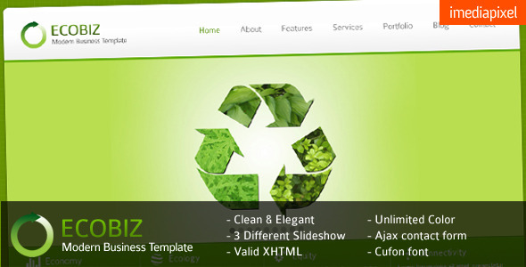 Download ECOBIZ - Corporate and Business HTML Template Business Html Templates