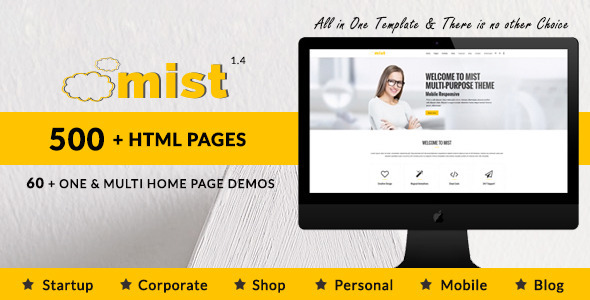 Download Mist | Multi-Purpose HTML5 Responsive Template Band Html Templates