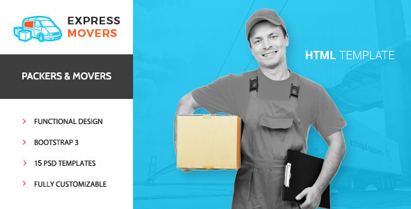 Download Express Movers - Moving Company HTML Template Company Html Templates