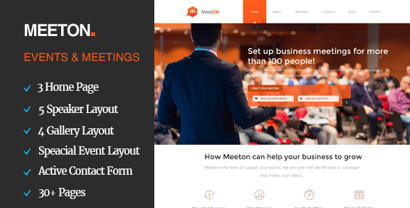Download Meeton - Conference & Event HTML Template Event Html Templates