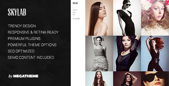 Download Skylab - Portfolio / Photography WordPress Theme Portfolio Blogger Templates