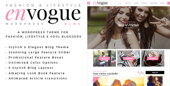 Download EnVogue | Fashion & Lifestyle WordPress Blog Theme Fashion Blogger Templates