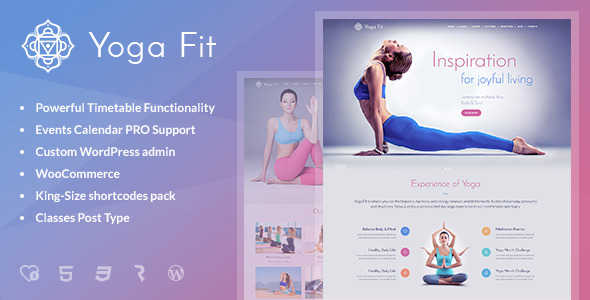 Download Yoga Fit - Sports, Fitness & Gym WordPress Theme Amp WordPress Themes
