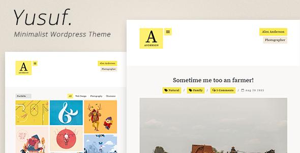 Download Yusuf - Minimalist WordPress Theme Minimalist WordPress Themes