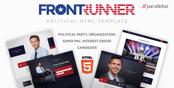 Download Political HTML Template - FrontRunner Youtube Html Templates