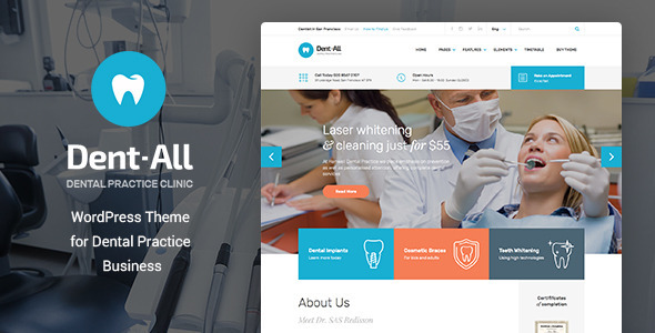 Download Dent-All: Medical, Dental Clinic WordPress Theme Hospital WordPress Themes
