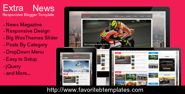 Download Extra News - Magazine Blogger Template Magazine Blogger Templates