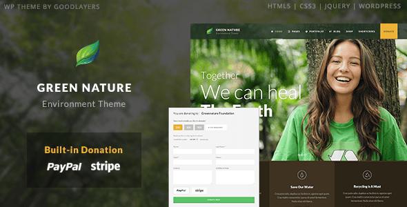 Download Green Nature - Environmental / Non-Profit WP Theme Green WordPress Themes