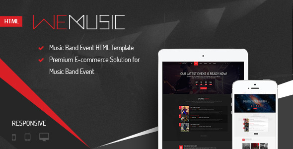 Download WeMusic - Music Band Event HTML Template Event Html Templates