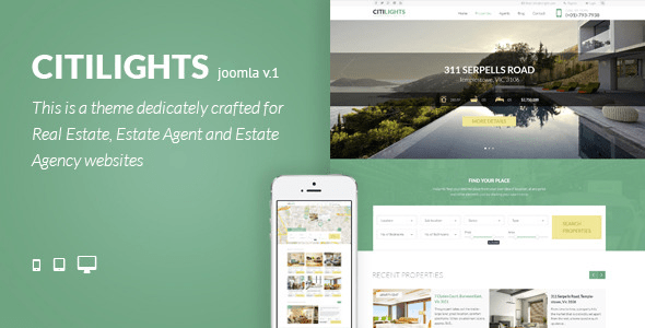 Download Citilights - Real Estate Joomla Template Real Estate Joomla Templates