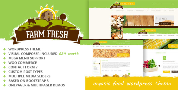 Download Farm Fresh - Organic Products WordPress Theme Organization WordPress Themes