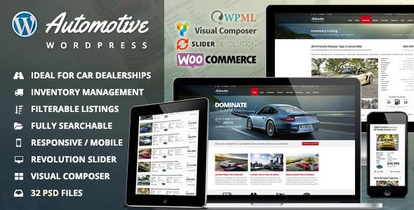 Download Automotive Car Dealership Business WordPress Theme Automotive WordPress Themes