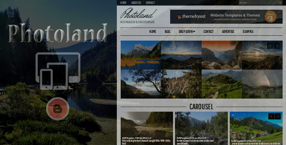 Download Photoland - Magazine Blogger Template Magazine Blogger Templates
