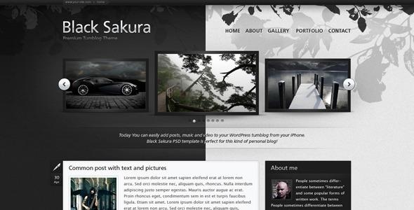 Download Black Sakura Black Html Templates