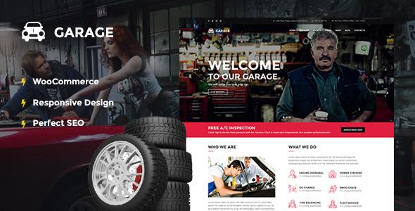 Download Automotive WordPress Theme - Garage Automotive WordPress Themes