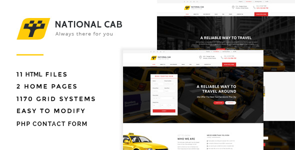 Download TaxiCab - Taxi Company HTML Template Company Html Templates