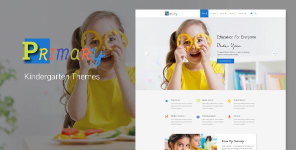 Download Primary – Kids & Kindergarten School PSD Template Education Blogger Templates